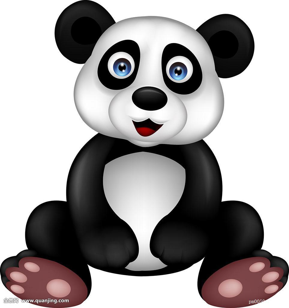 坐,卡通,隔绝,熊,亚洲,野生,黑色,动物园,插画,野生动物,小动物,熊猫图片