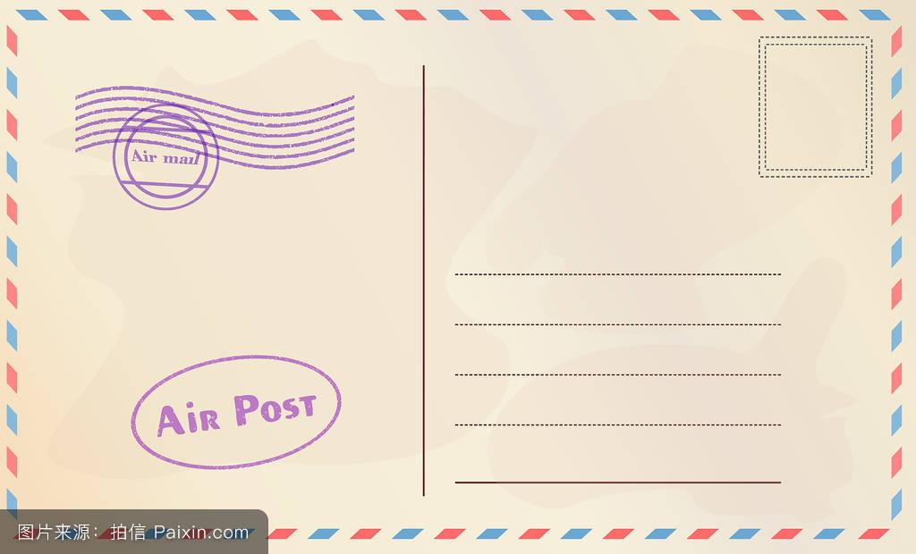 卡,空白的,怀旧,明信片,空的,纸,老年人,卡片,分离,古老的,标准,印刷图片