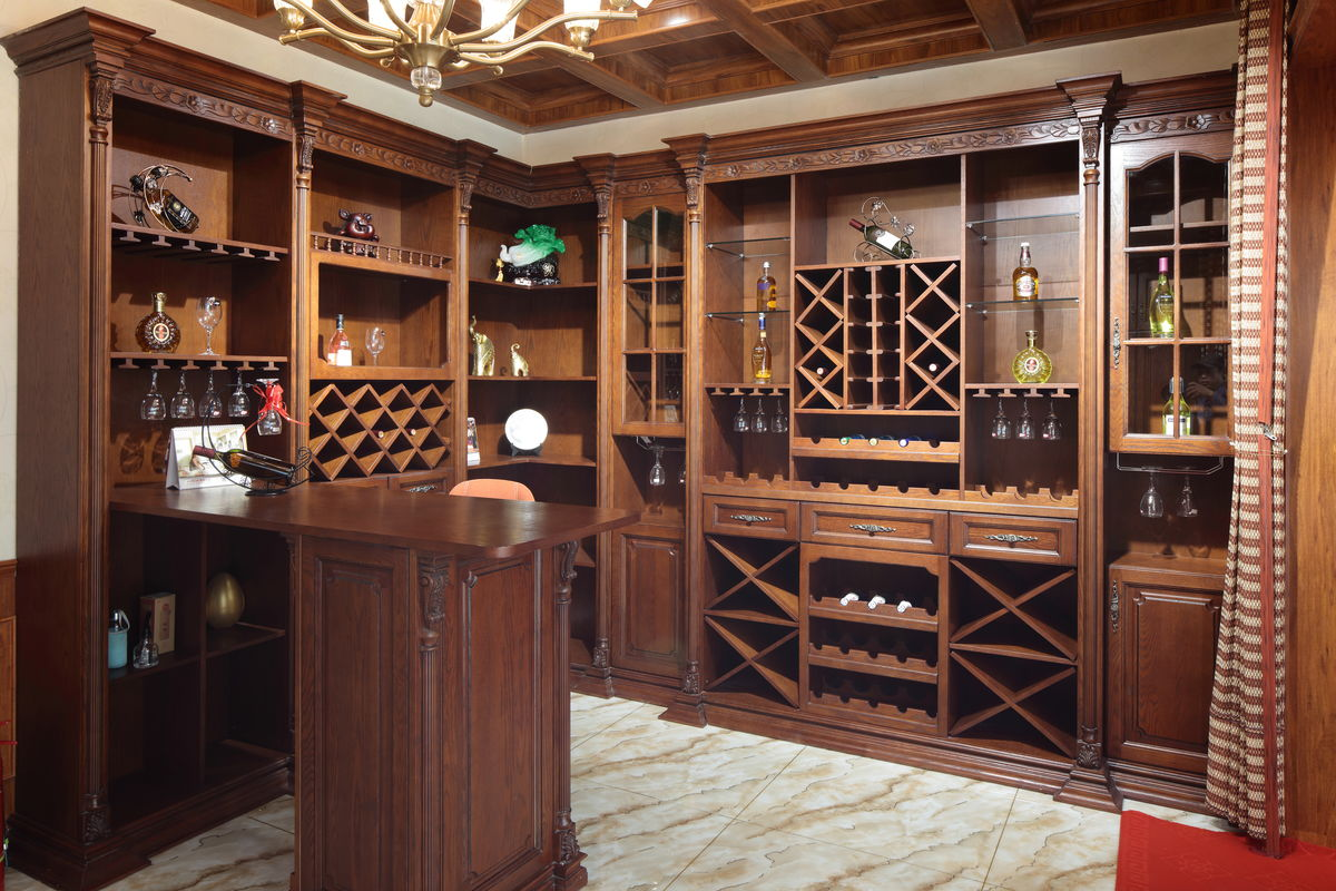 家居,家私,实木雕花,中式家具,中式风格,现代风格家具,实木酒柜,餐厅图片