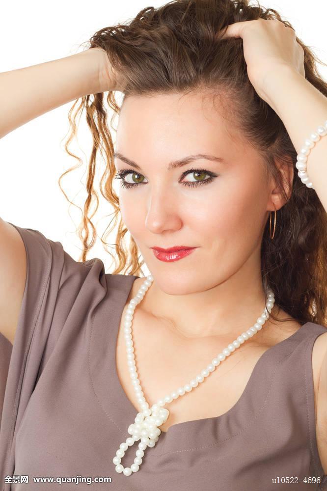 长,头发,女人,女孩,俄罗斯人,情色,珍珠,性感,发型,褐色,广告,成年图片