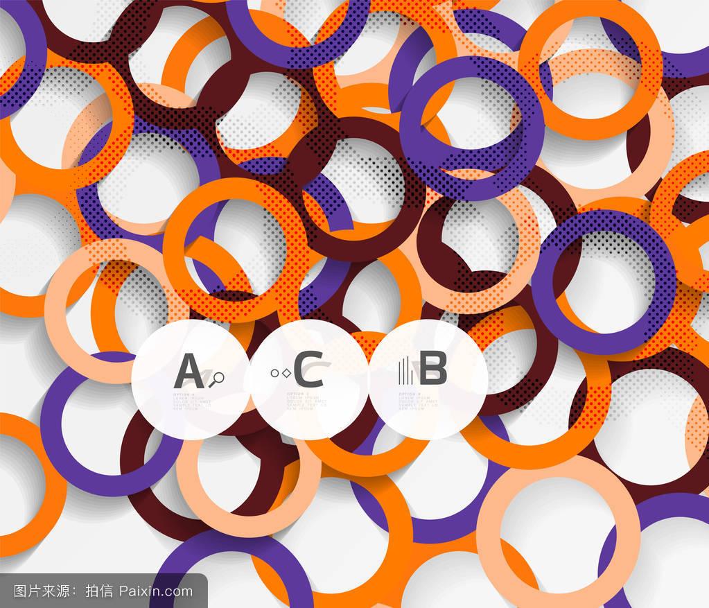环�z(����K��K�_灰色三维环.几何现代抽象背景