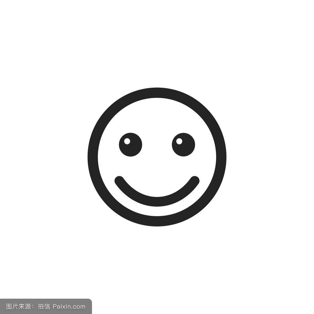 卡通,爱,性格,符号,表情符号,签名,面对,不快乐的,线,概念,头,偶像图片