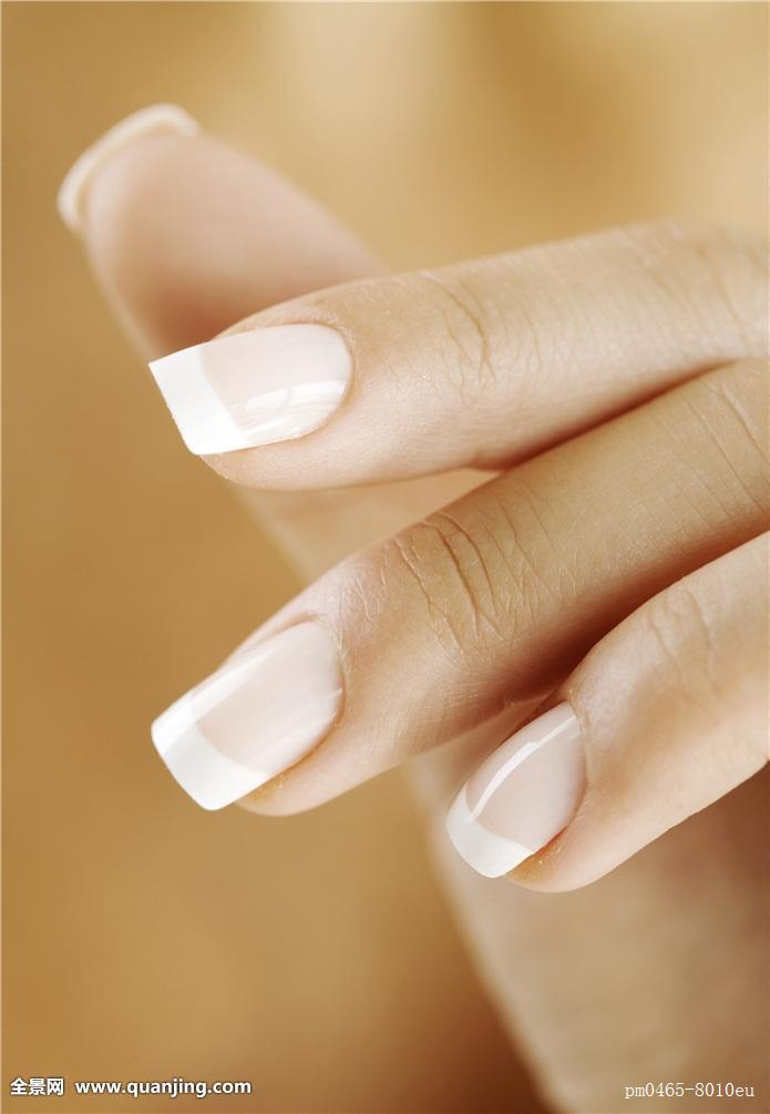 手,女性,美甲,指甲,女人,特写,皮肤,留白,欧洲,白人,完美,手指,水疗图片