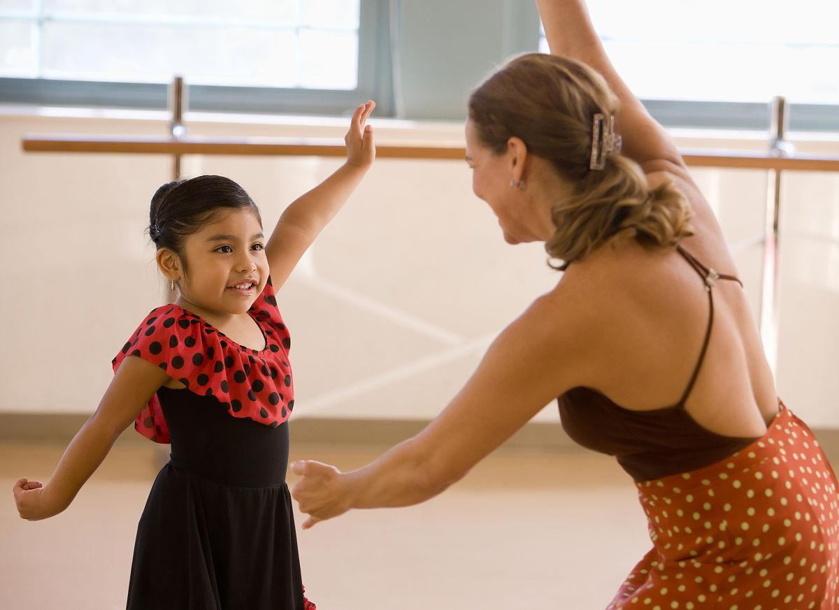 1儿童节小女孩舞蹈盘发发型图片