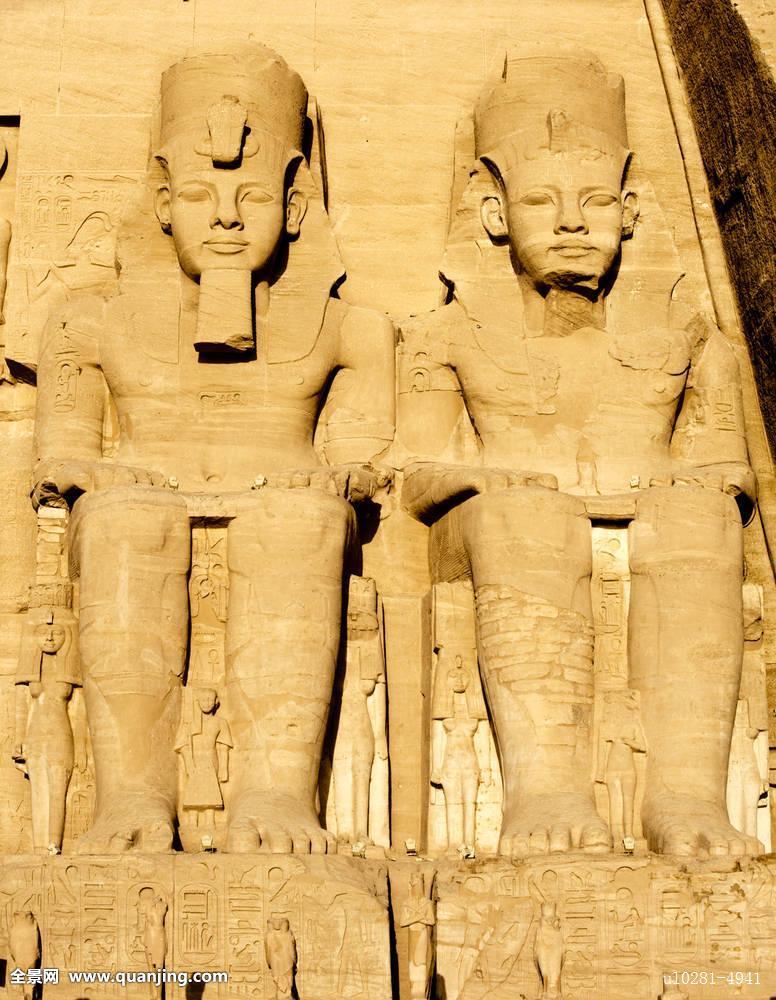 埃及尼罗河法老地标湖拉美西斯雕塑庙宇旅行考古-法老图片