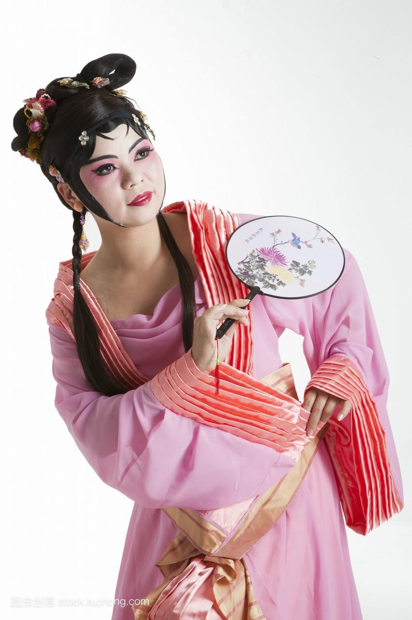 女人,只有女人,戏服,假发,脸谱,头饰,舞台服,艺术,舞台妆,古装,艺术家图片