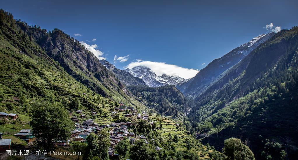 山���!�-��.�9`a�f-:##_天空,喜马偕尔邦,树,喜马拉雅,印度,山,自然