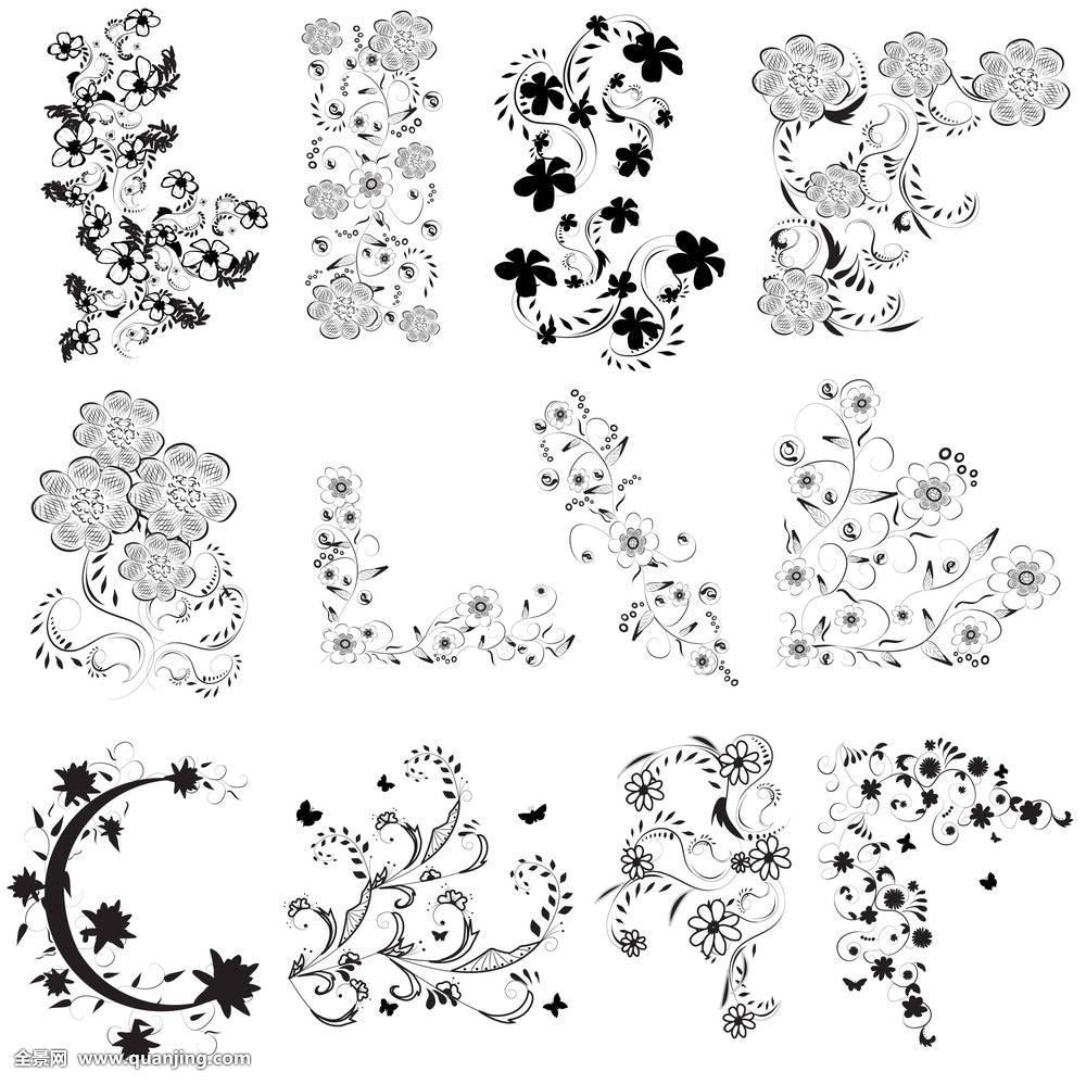 黑白,花,角度图片