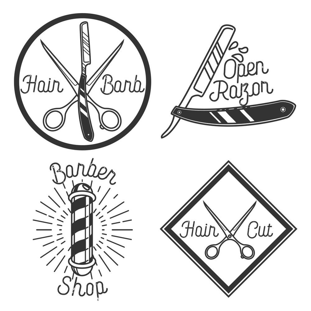 老式的理发店标志图片
