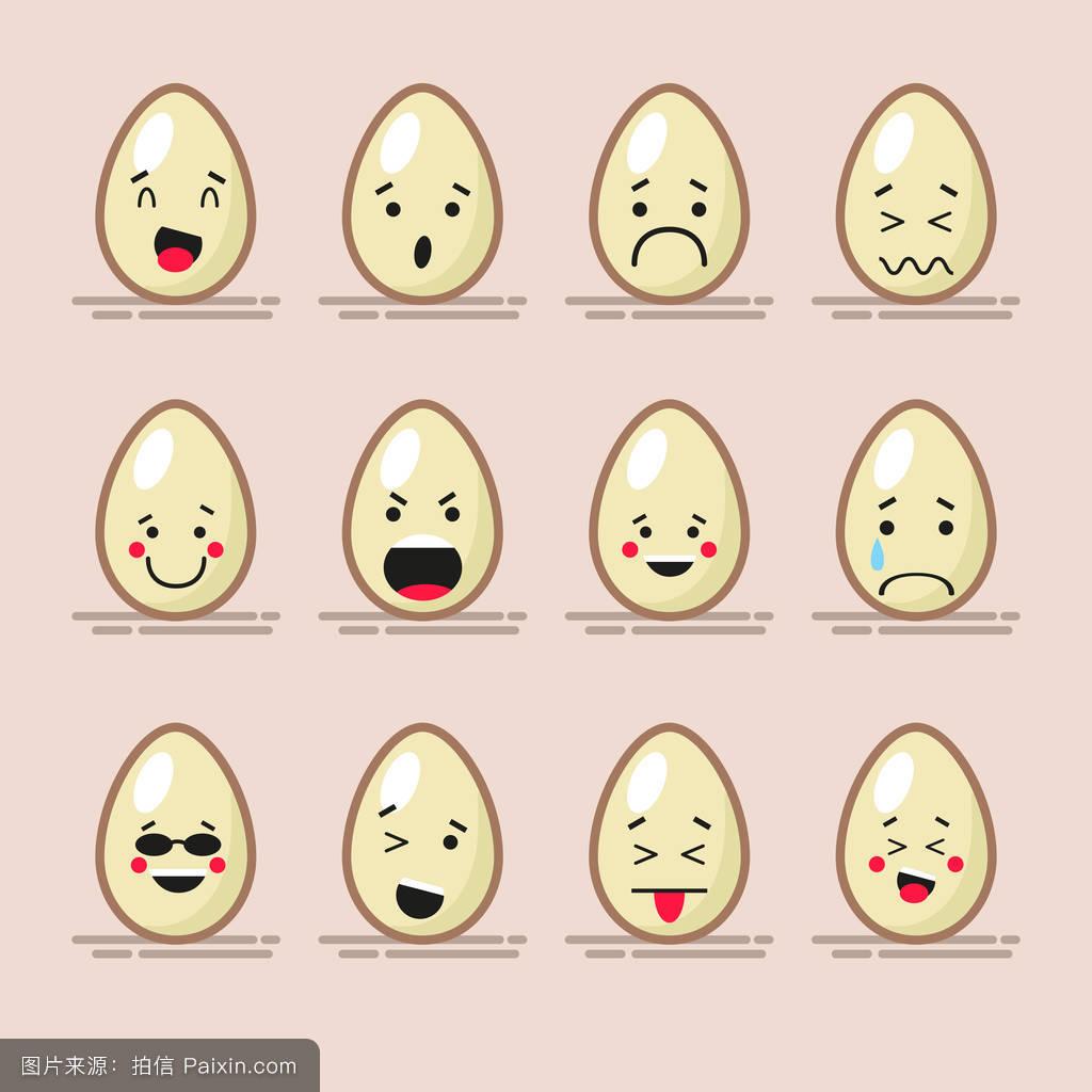 表情符号,有趣的,艺术,设计,幽默,鸡蛋,表达,壳,笑脸,背景,设置,哭图片