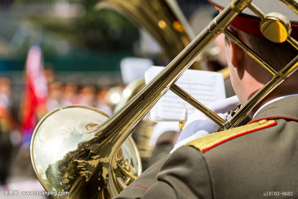 长号,演奏,军事,乐队图片