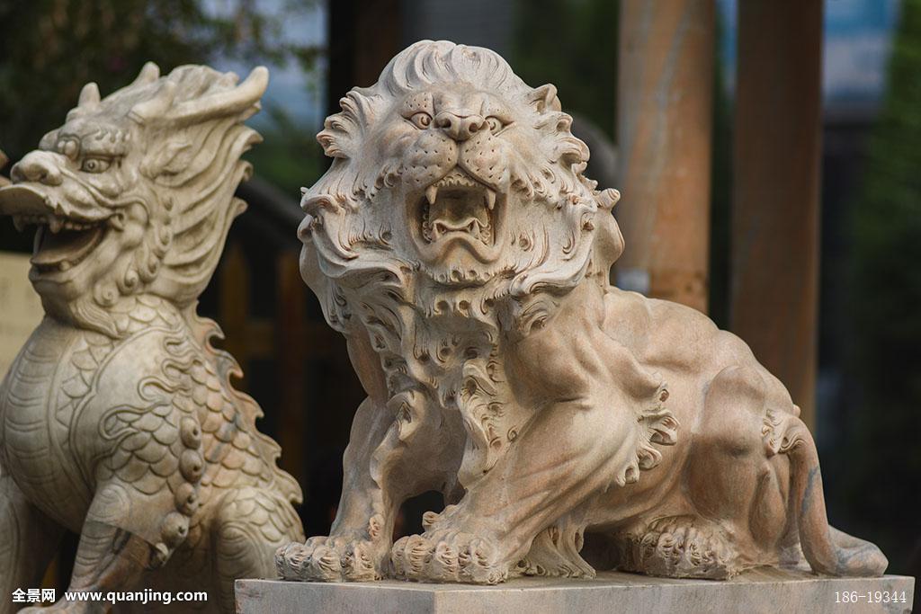 石刻狮子图片