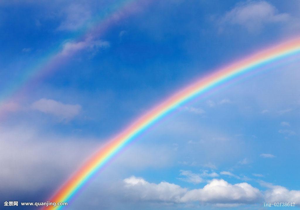 天空出现那一道彩虹_天空,空气,雨,蓝色,光泽,亮光,悬空,云,环境,彩虹,积云,抽象,苍穹
