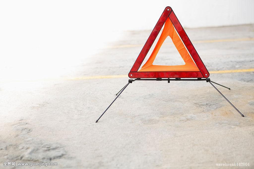特写,三角形,警告标识图片
