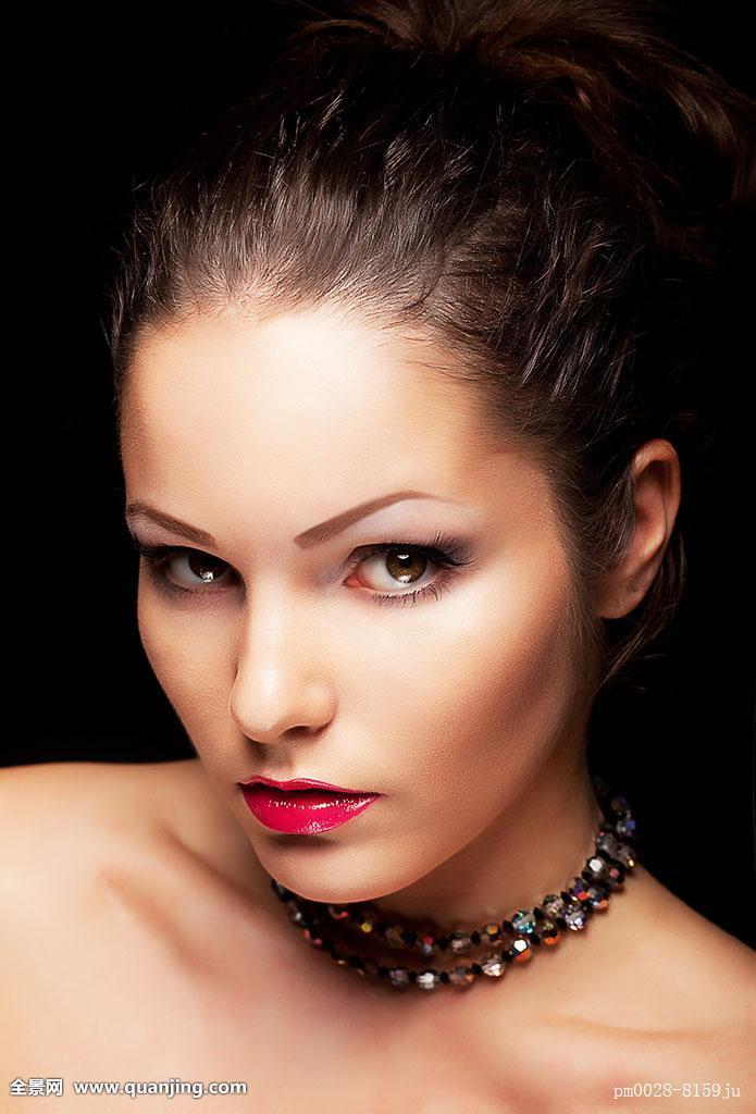 女性,青少年,脸,色彩,彩色,色彩浓厚,头像,皮肤,人,眼睛,留白,欧洲图片