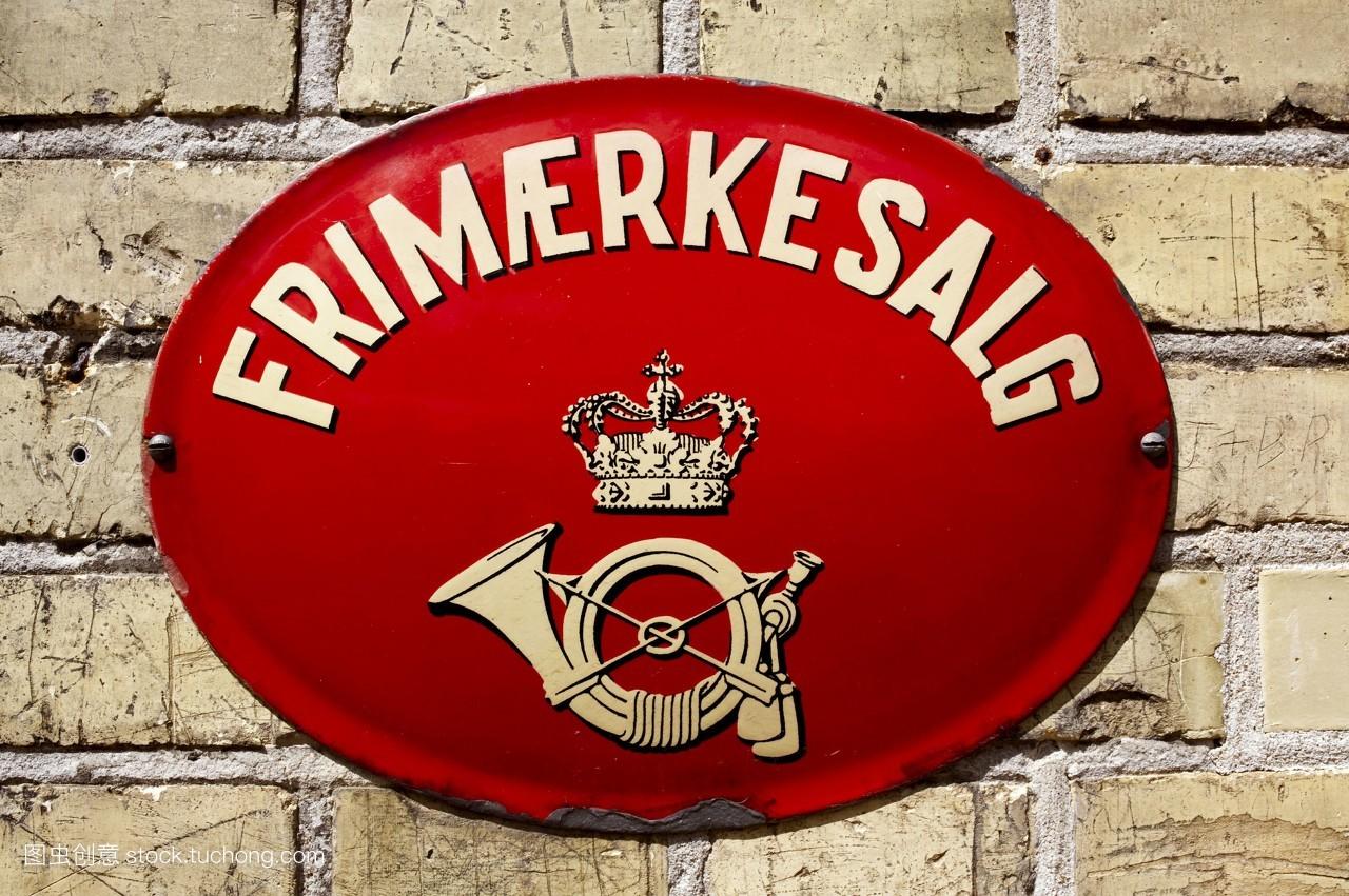 张贴,北欧人,路标,邮递,商店,红色,贴,沟通,销售,邮政,柱,零售,招牌图片