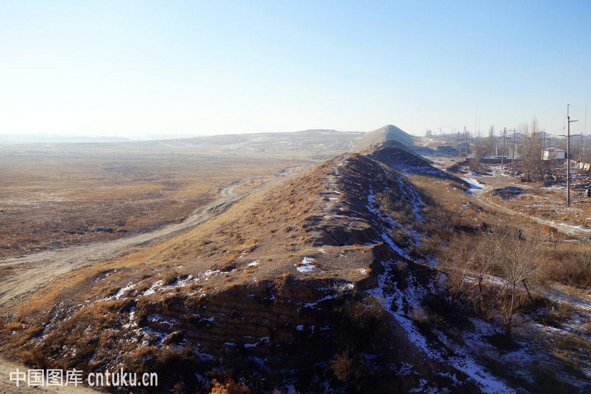 内蒙古,古代,古城墙,古老的,巴林左旗,建筑,遗址图片