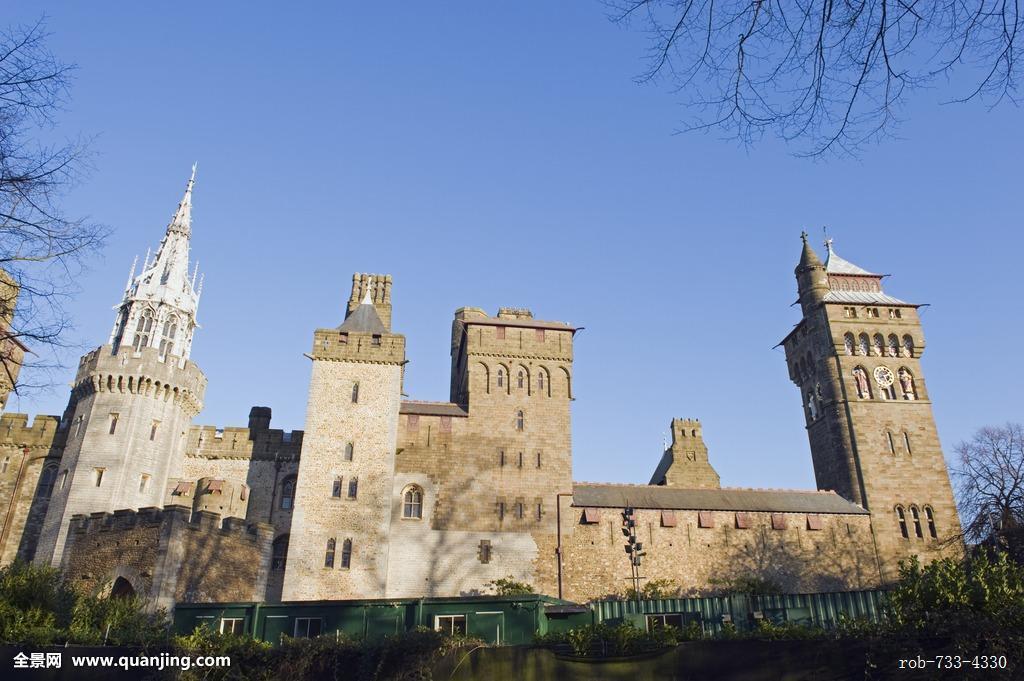 加的夫,城堡,威尔士,英国,欧洲图片