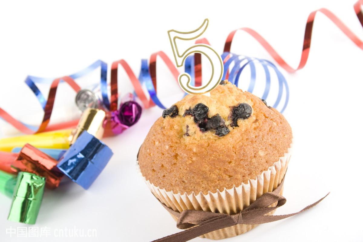 第五周年蛋糕图片