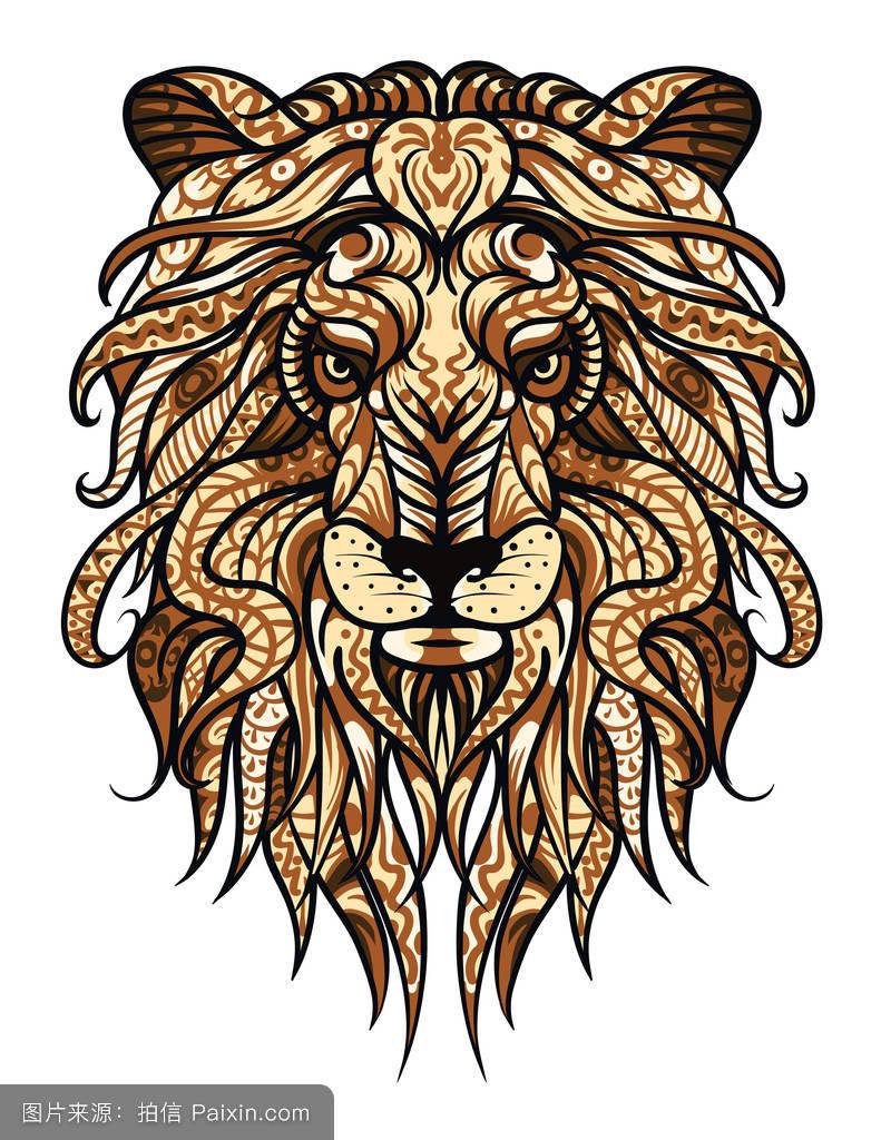卡通,非洲,猫,模式,吉祥物,符号,国王,eps,生肖,绘制,头,矢量,象征图片