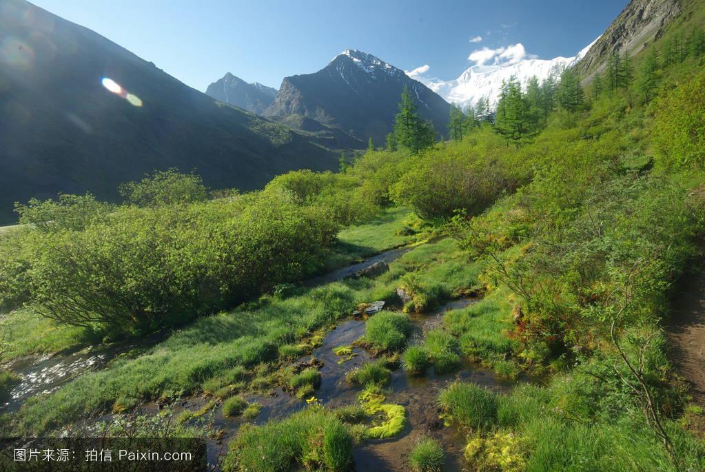 山���!�-��.�9`a�f-:##_迅速的,流动,旅游,小山,农村的,湖,自然的,夏天,和平,阿尔泰,护发素