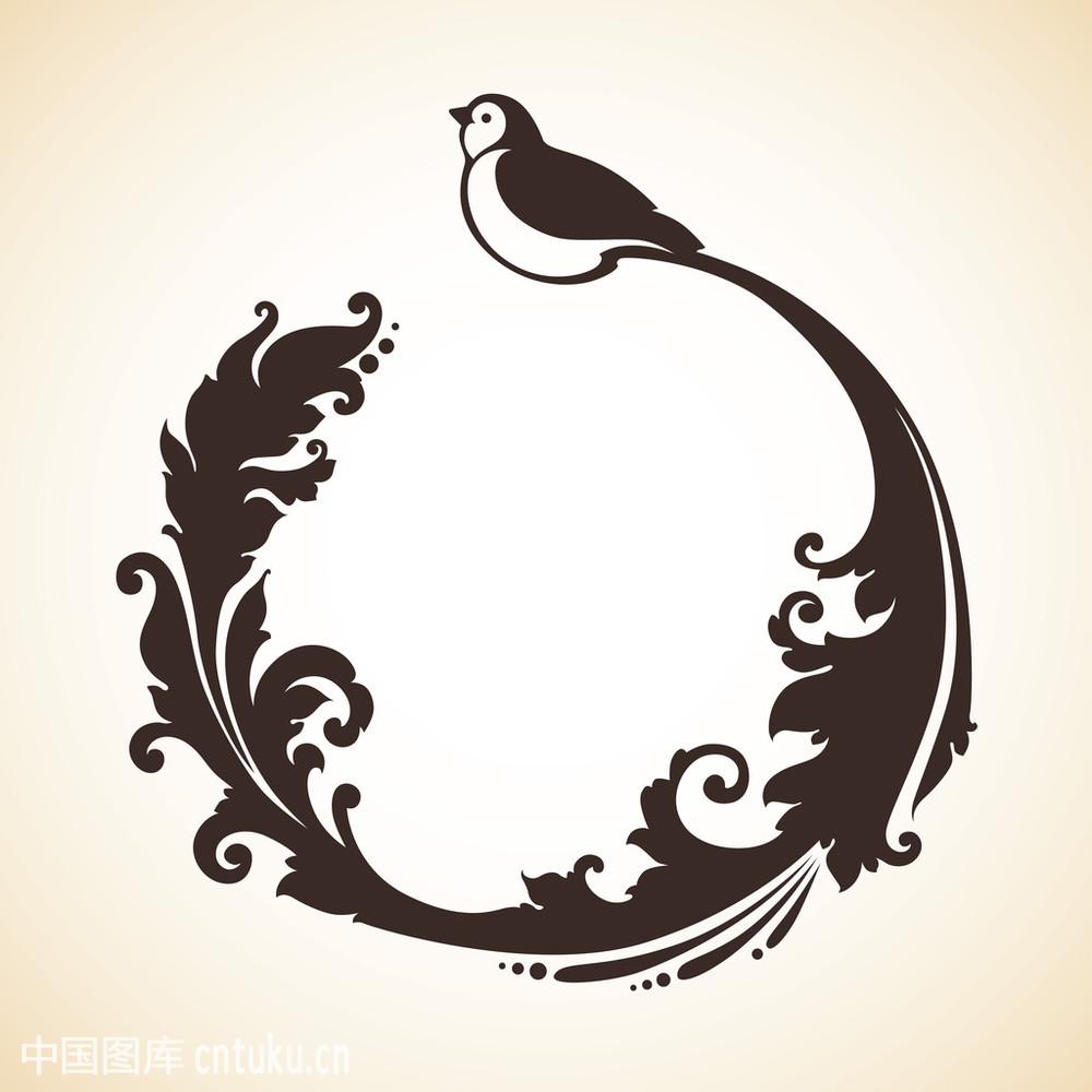 弯曲术,华丽的,吉祥物,酷,经典,鸟,设计,矢量图,墨水,雕刻,图标,漩涡王炳南最纹身的设计案例图片