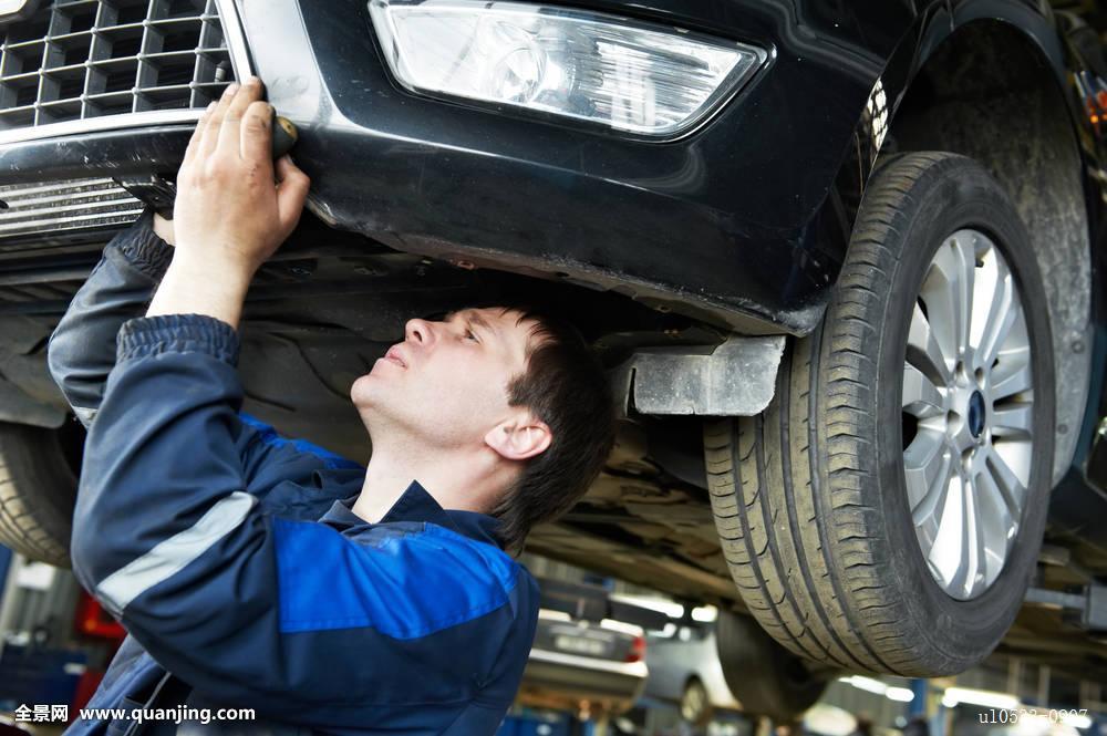 技工,引擎,修理,汽车修理,马达,技术人员,工作,修理工,汽车,工作间图片