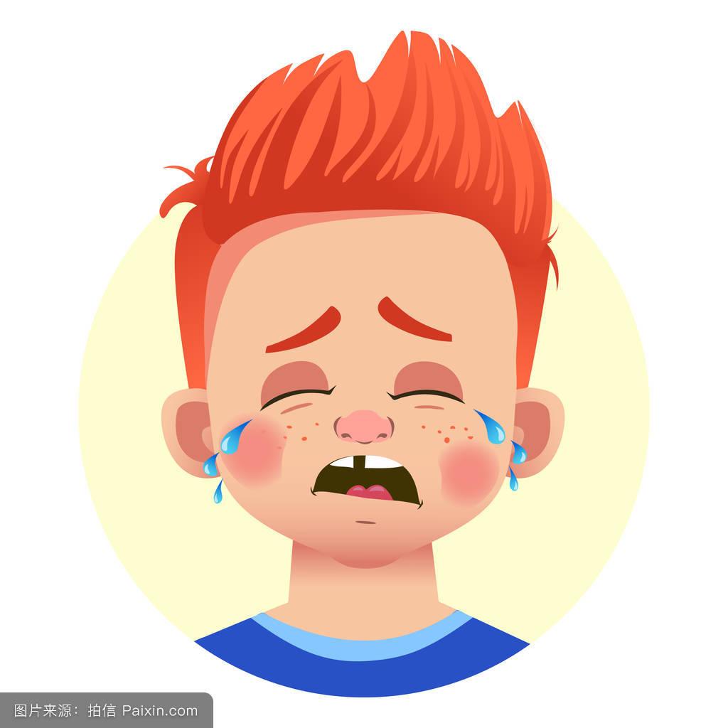 愤怒,卡通,触摸,撕裂,性格,情感的,符号,表情符号,悲伤,面对,头,笑图片