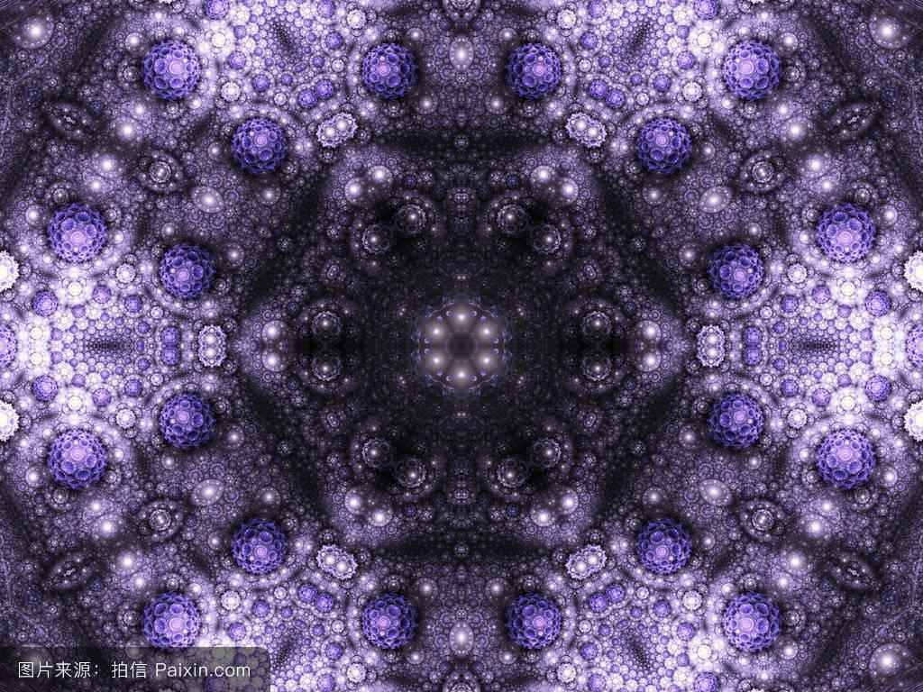 紫色无缝分形曼荼罗,数字图形创意图形设计图片