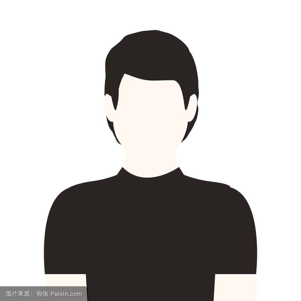 黑白半身人无脸图片