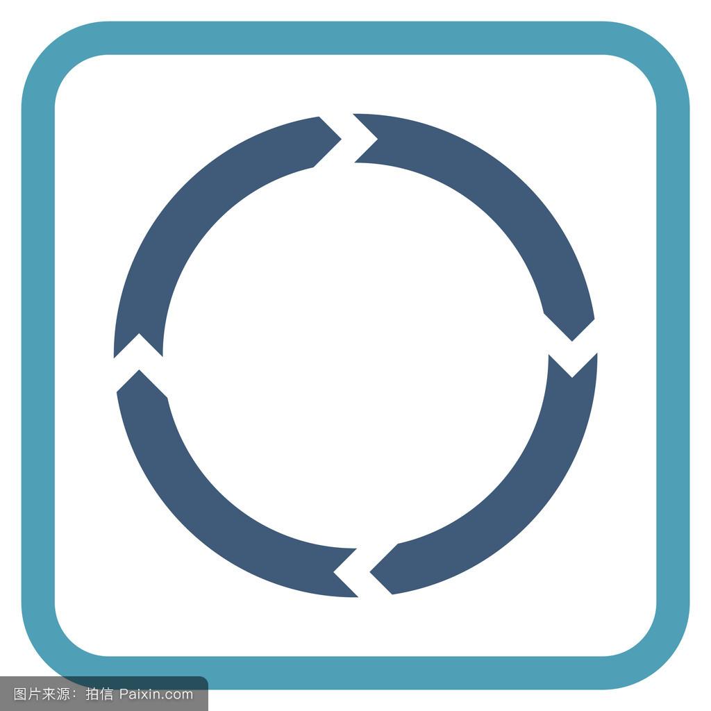 环�9c.��fz���d_设计元素,回收,符号,代替,平的,航行,卷曲,定向,复位,环,象形文字,框