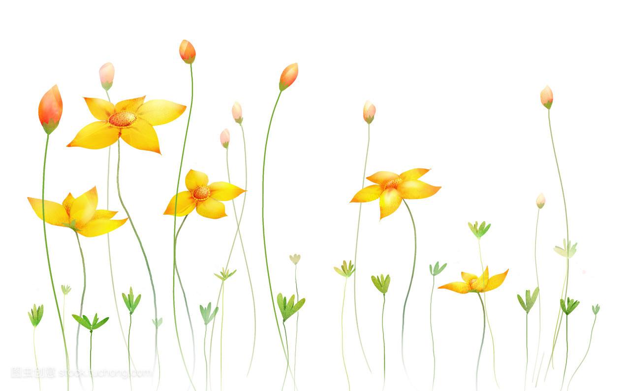 美丽的花园简笔画彩色图片