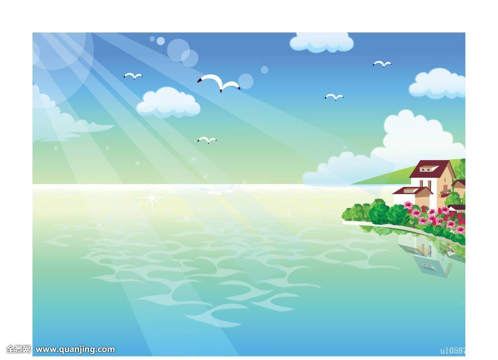 移动飞�y.&�b�y�-�-.yd%_阳光,海洋,湖,反射,水,地平线,自然风光,清新,动感,移动,野生动物,飞