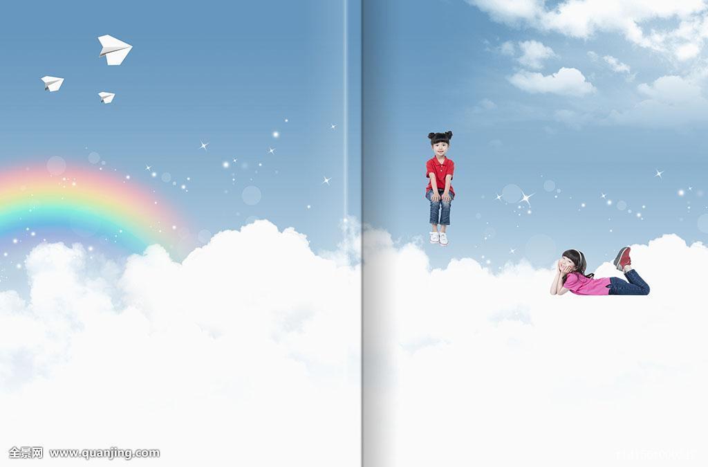 电脑制图,情感,教育,云,可爱,梦想,亚洲人,移动,两个人,设计,彩虹图片