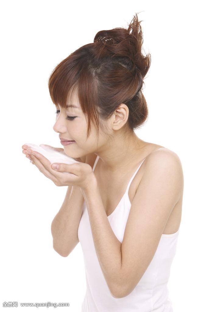 亚州女人�9�'�od9o9f�x�_休闲服,肖像,年轻人,亚洲人,中国人,年轻,女人,女性,棚拍,白色背景