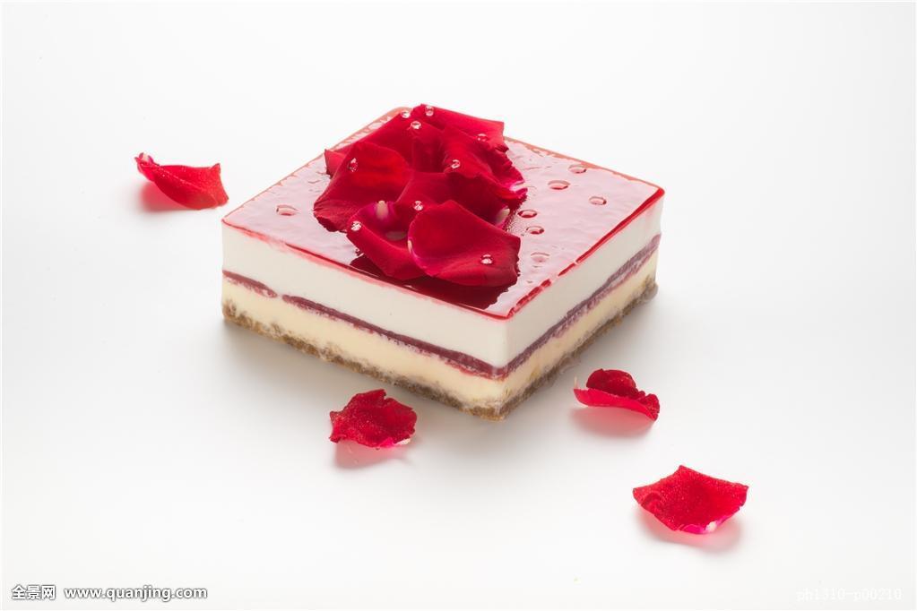 玫瑰慕斯蛋糕图片