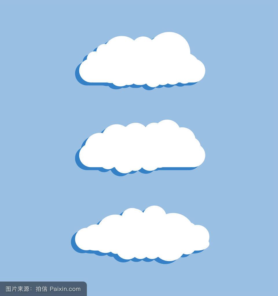 云图标,云形.一组不同的云彩.云图标,形状,标签,符号的集合.图形元素.图片