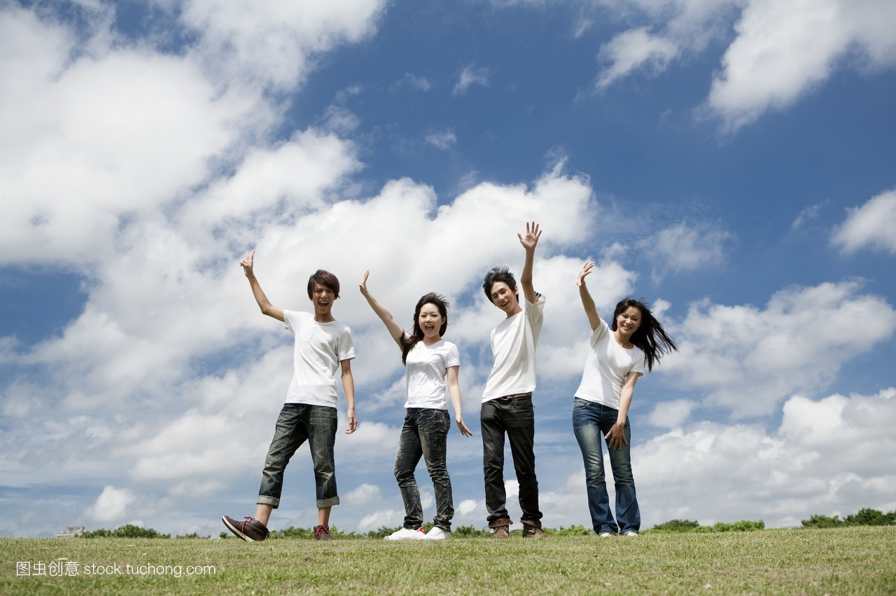 摄影,20岁到30岁,全长,有趣,户外,中华民族,草坪,年青女人,做梦,让人图片