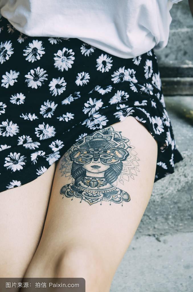 江疏影腿上的纹身分享展示图片