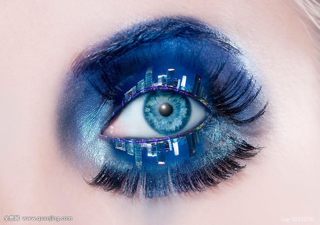 眉毛,建筑,白人,城市,特写,彩色,化妆,创意,设计,眼,睫毛,眼睑,眼影图片