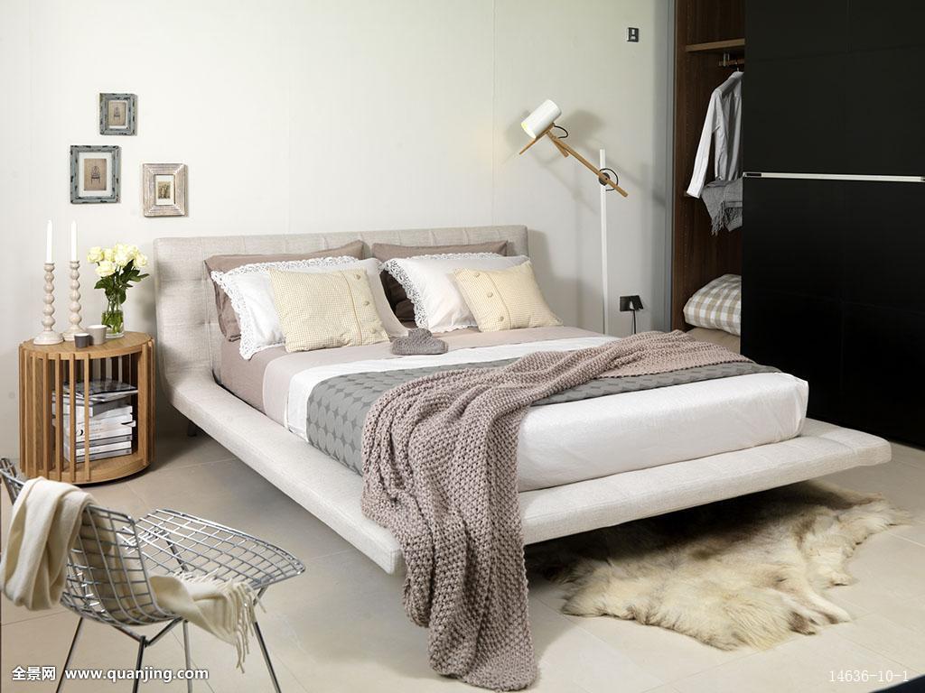 亮光,豪华,奢华,平台式床,住宅,地面,家具,家,横图,房子,英国,卧室图片
