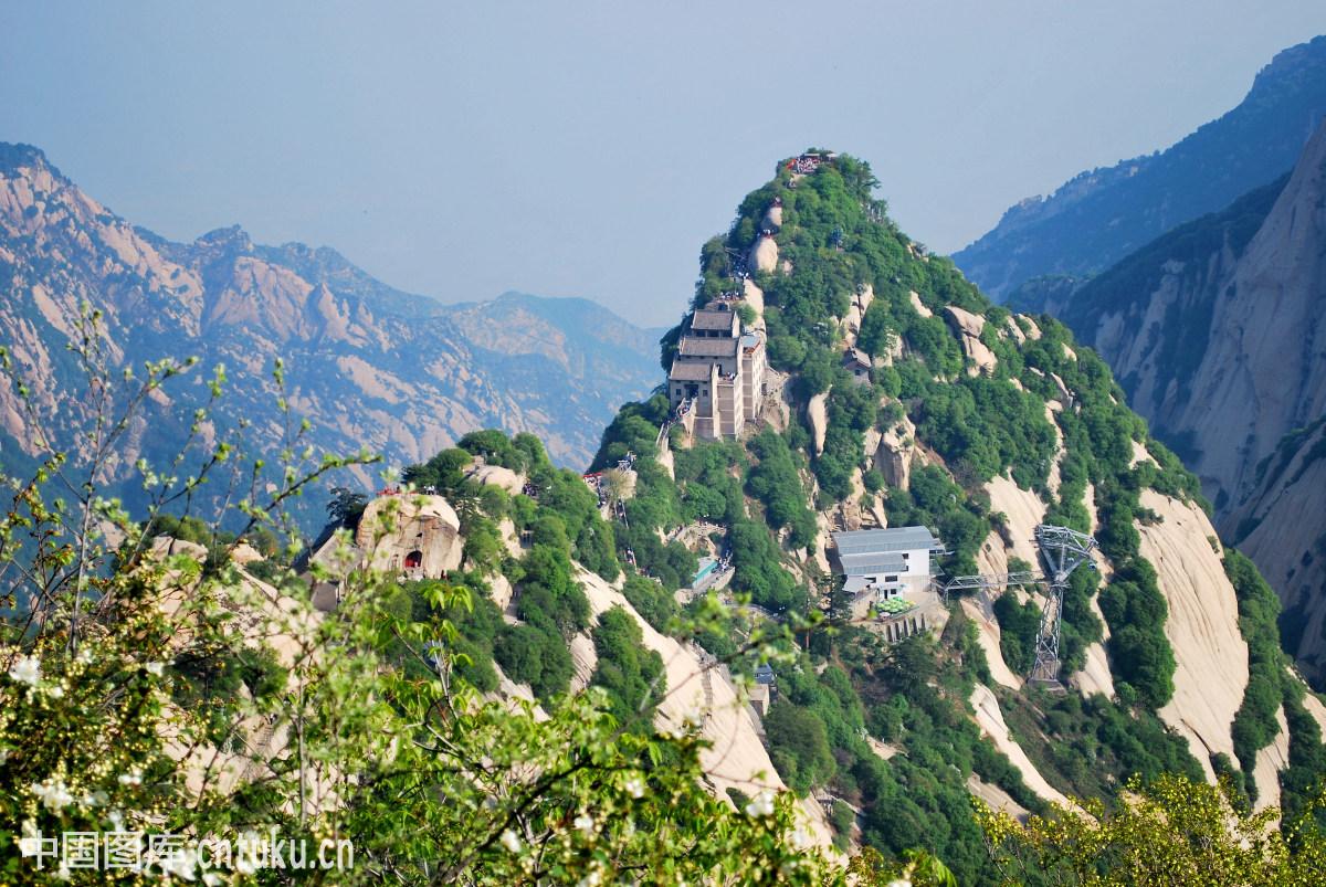 华山北峰全景图片