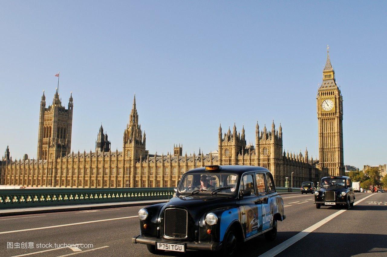 夏天,英式,旅行,伦敦,英国,标志性的,泰晤士河,英文,出租车,塔,建筑图片