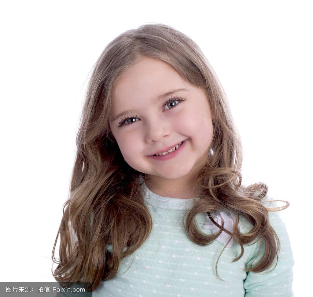 岁的女孩,童年,幸福的,分离,可爱的,青少年,令人愉快的,金发女郎,发型图片