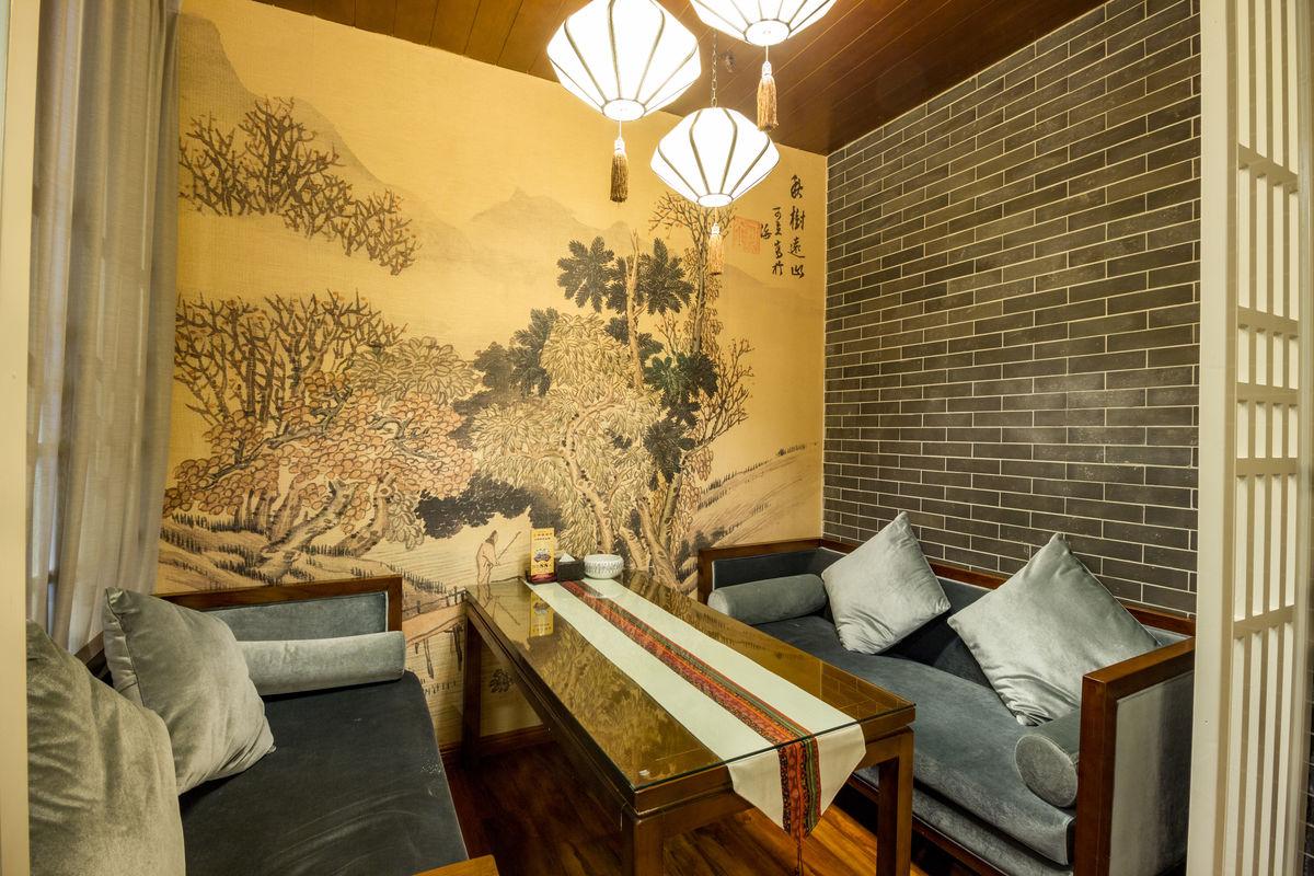 咖啡厅,茶餐厅,休闲场所,装饰设计,空间设计,室内装饰,机麻包间,中式图片