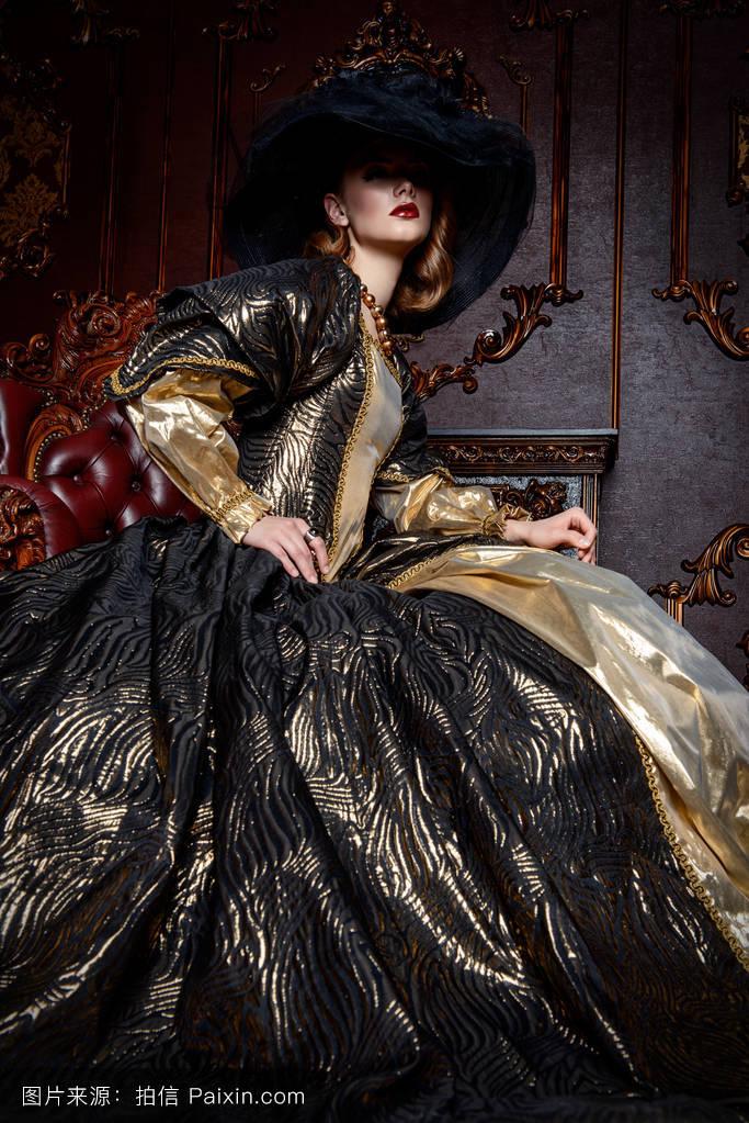 中世纪,女人,假面舞会,面纱,美丽的,公爵夫人,傍晚,头发,奢侈,贵族图片
