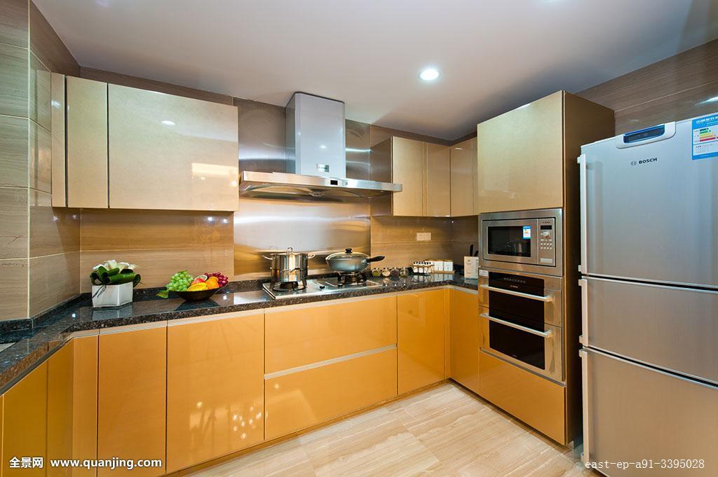 室内,厨房,冰箱,欧式,风格,酒店,无人,度假,时尚,居家,装饰,建筑,生活图片