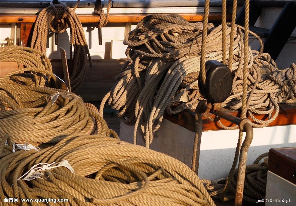老式,水上运动,船,帆船,划艇,木板,绳索图片