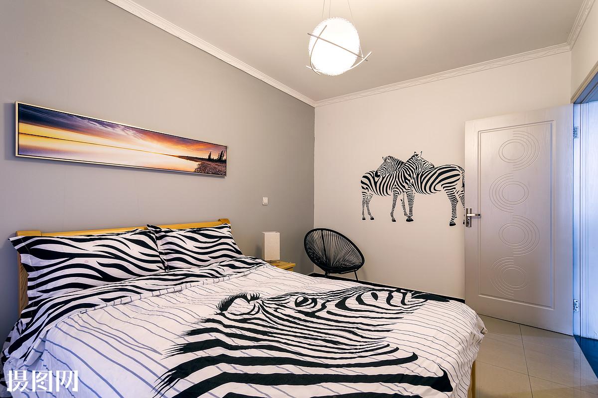 装修,墙,房间,地板,床,床铺,墙面,简约,北欧风,装修,改造,布置,装饰图片