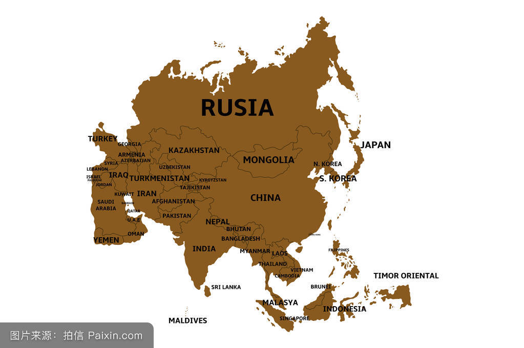 亚洲国家_亚洲国家地图